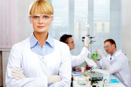 Confident scientist  photo