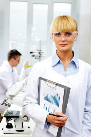 Female scientist  photo
