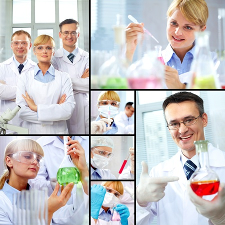Collage made of images with scientific concept Stock Photo - 9910777