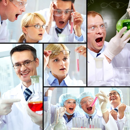 Collage made of images with chemical concept Stock Photo - 9910751