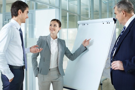Young woman presenting project to her colleagues Stock Photo - 9963079