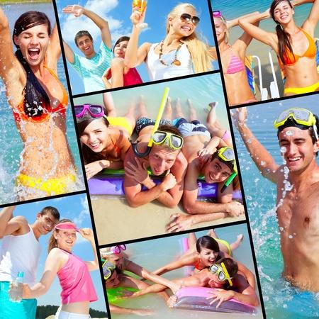 dinamismo: Raccolta di foto di amici in vacanza felice