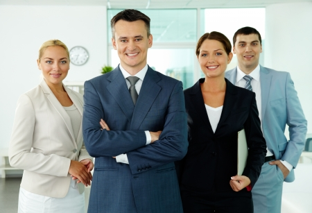 Portrait of business partners looking at camera with smiles Stock Photo - 10068616