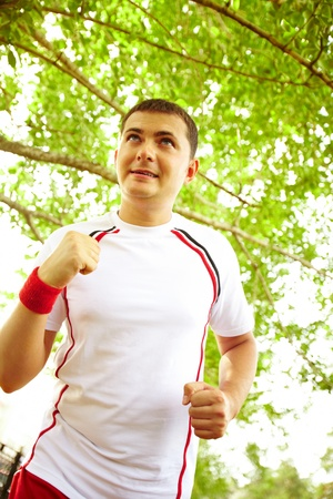 Image of young sportsman running outdoor Stock Photo - 10446073