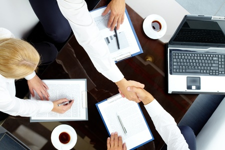 Image of handshake of successful partners after negotiations Stock Photo - 10503951