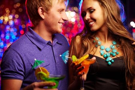 couple having fun: Image of happy couple having fun in the night club