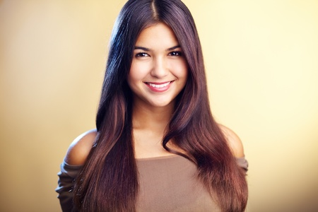 Image of perfect woman looking at camera with smile Stock Photo - 10643898
