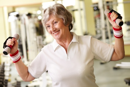 Positive senior woman living active life  photo