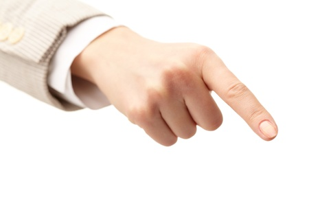 Photo of human hand with forefinger pointing down Stock Photo - 11426008