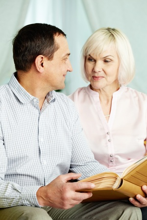 Portrait of mature man and his wife looking at each other Stock Photo - 11622382