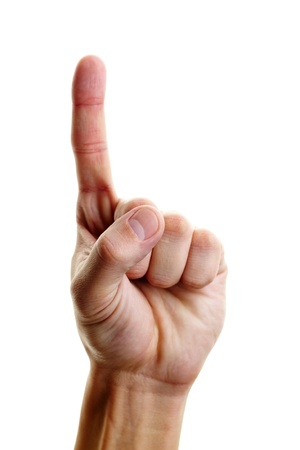 Photo of male hand with forefinger pointing upwards Stock Photo - 12061577