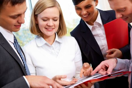 Image of business people planning work at meeting Stock Photo - 12326472