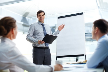 Businessman conducting the presentation of a project photo