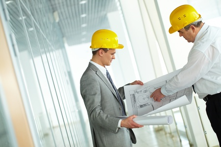 Two architects discussing new project at meeting Stock Photo - 12873293
