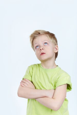 Close-up portrait of pensive boy Stock Photo - 13119176