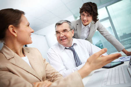 Business group working together in office Stock Photo - 13198747