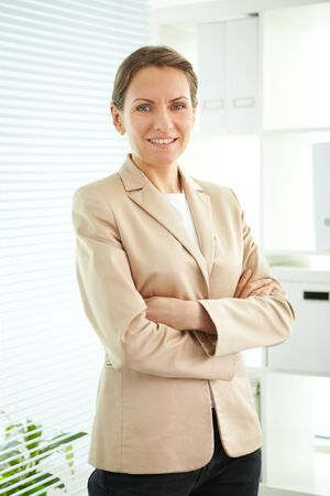 Smiling business woman looking at camera Stock Photo - 13198677