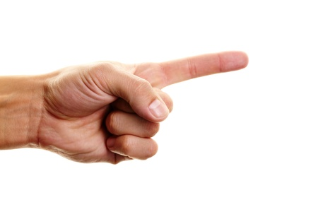 Photo of male hand with forefinger pointing forwards Stock Photo - 13198780