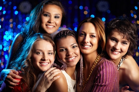 Female friends having fun and enjoying themselves at a bridal party Stock Photo - 13302139