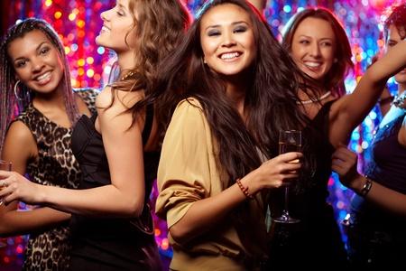 tonight: Girls having fun at club tonight