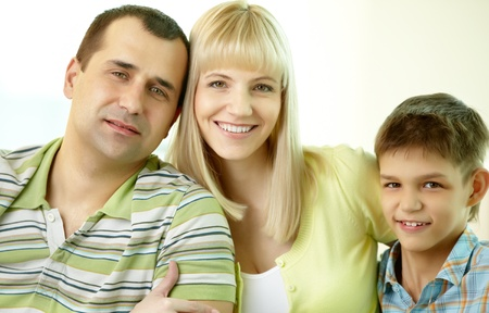 Close-up portrait of a mother, father and son Stock Photo - 13475985