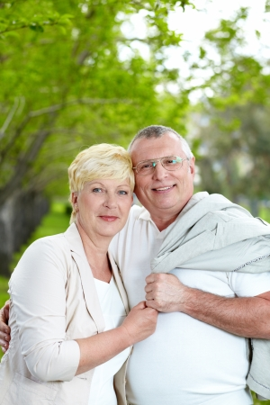 Mature couple having rest on summer Stock Photo - 13654032