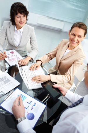 Business group working together in office Stock Photo - 13729572