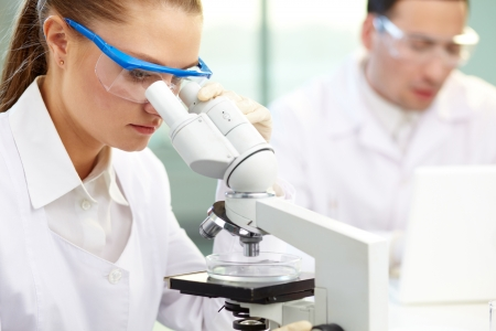Seus clinician studying chemical element in laboratory Stock Photo - 13767187