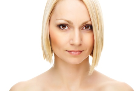 Portrait of a pretty blonde posing in front of camera Stock Photo - 13766680