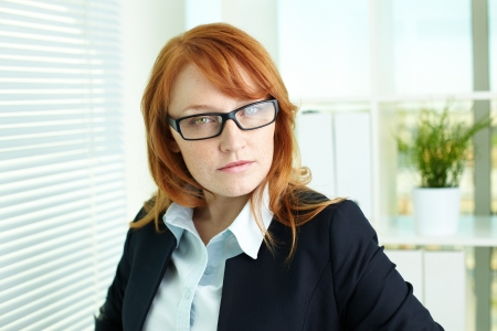 superior: Young business lady with superior look