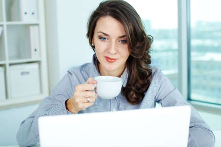 usual: Image of a pretty businesswoman on her usual working day Stock Photo