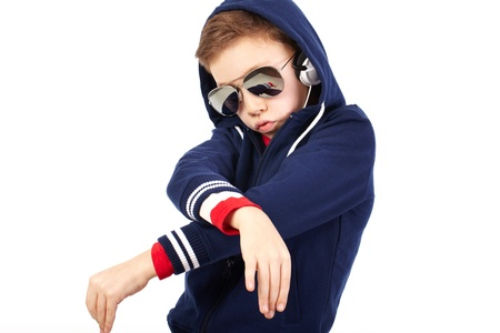 Portrait of a cool kid dressed like a rapper Stock Photo - 14442065