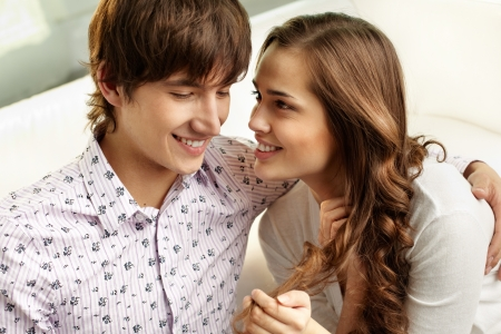 teen couple: Affectionate couple spending time together