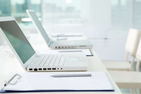 business laptop: Image of laptops on table