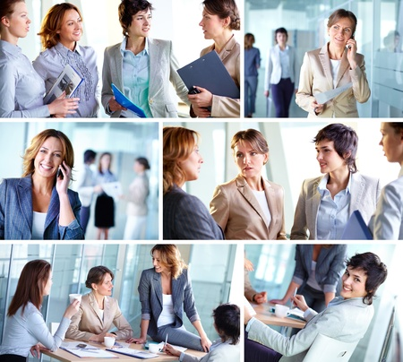 Photo collection of successful business ladies at work photo