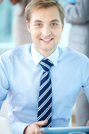 Portrait of confident boss looking at camera with smile Stock Photo - 15315976