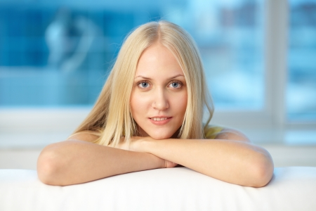 Image of pretty blond girl looking at camera Stock Photo - 16304929