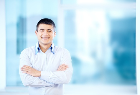 Portrait of cheerful businessman looking at camera Stock Photo - 16333958
