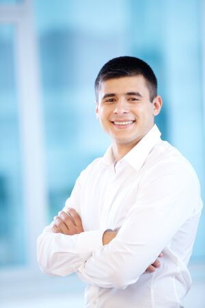 Portrait of cheerful businessman looking at camera Stock Photo - 16333961