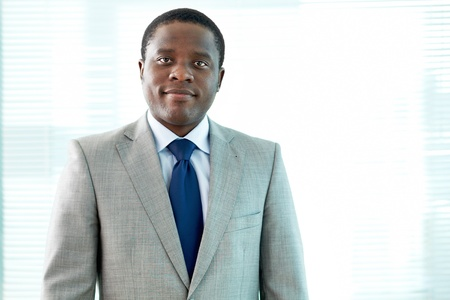 Portrait of smart African businessman in office Stock Photo - 16963959