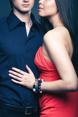 Vertical shot of a luxurious couple posing together Stock Photo - 17257558