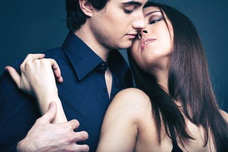 Close-up image of a passionate couple being in affair Stock Photo - 17257582