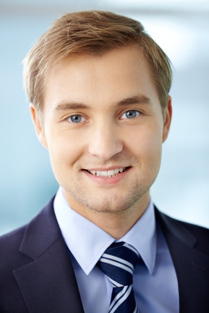 Portrait of cheerful businessman looking at camera Stock Photo - 17340349