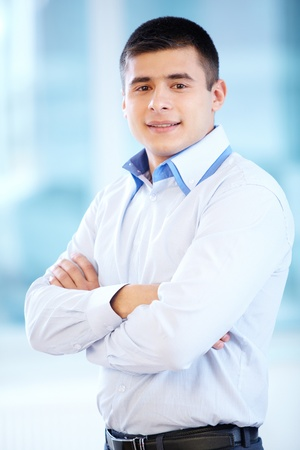 Portrait of cheerful businessman looking at camera Stock Photo - 17340666