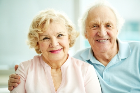 dignity: Portrait of smiling seniors enjoying spending time together