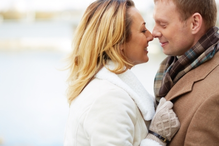 inlove: Portrait of happy and affectionate couple Stock Photo