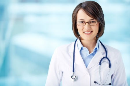 clinician: Image of an enthusiastic intern looking at camera Stock Photo