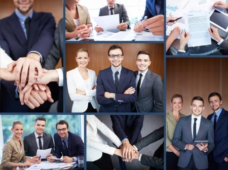 Collage de partenaires d'affaires, les formalités administratives et les mains de l'homme Banque d'images