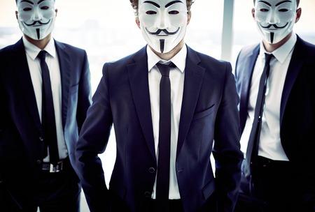 featureless: Portrait of three masked guys with attitude
