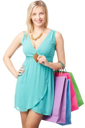 prefer: Modern woman prefer online shopping Stock Photo